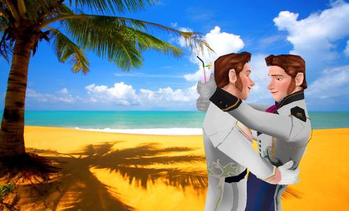 Hans fond d'écran containing a beach, an oceanfront, and a resort entitled Han's Paradise