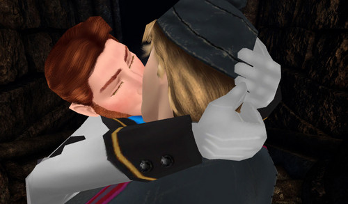 Yaoi wallpaper entitled Hans and Kristoff Kiss