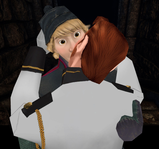 Hans and anna frozen kiss