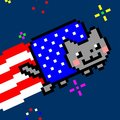 Happy 4th of July  - nyan-cat photo