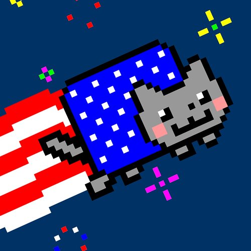 Nyan Cat karatasi la kupamba ukuta probably with a business district entitled Happy 4th of July