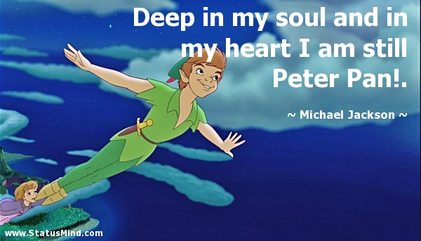 His love for Peter Pan