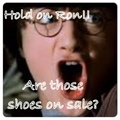Hold on Ron!! Are those shoes on sale? - harry-potter photo
