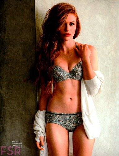 Holland Roden wallpaper probably with a brassiere, a lingerie, and an elevar, elevação called Holland for Maxim USA July/August 2014
