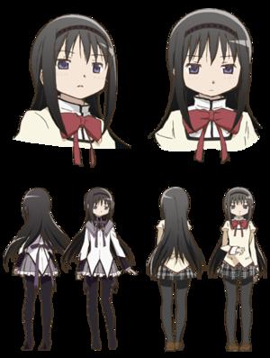 Homura Akemi (Human and Magical Girl form)