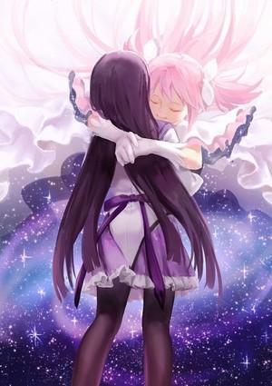 Homura Akemi and Madoka Kaname | Puella Magi Madoka Magica