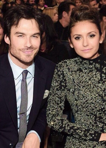 Stelena vs Delena پیپر وال with a business suit entitled Ian n Nina