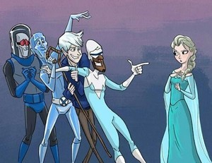 Jack Frost as one of Elsa's suitors