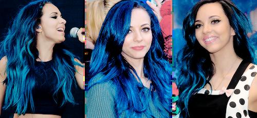 Jade thirlwall blue hair gif