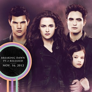 Jake, Renesmee, Edward and Bella