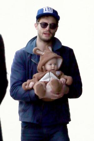 Jamie Dornan and his baby girl