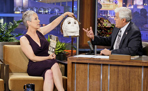 Jamie Lee Curtis w/ Michael's Mask