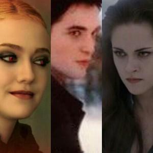 Jane, Edward and Bella