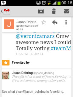Logan Echolls 壁紙 called Jason Dohring Favoted my tweet!