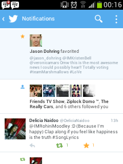 Jason Dohring (Verified Account) Favorited My Tweet!