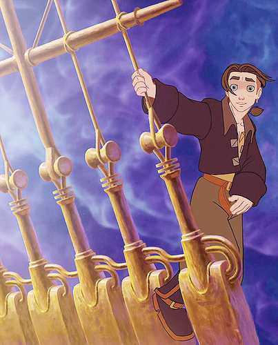 Childhood Animated Movie Heroes kertas dinding titled Jim Hawkins