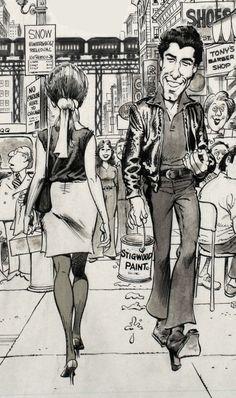John Travolta in a comic drawing