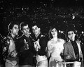 John and his friends in Saturday Night Fever