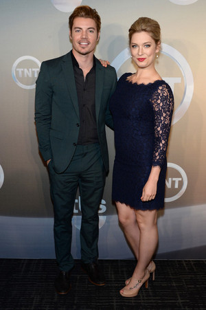 Josh Henderson and Briga Heelan attending the TBS / TNT Upfront 2014