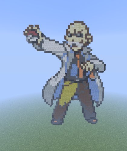 Minecraft(マインクラフト) Pixel Art! 壁紙 entitled Kanto Gym Leader: Blaine