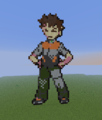 Kanto Gym Leader: Brock - minecraft-pixel-art fan art