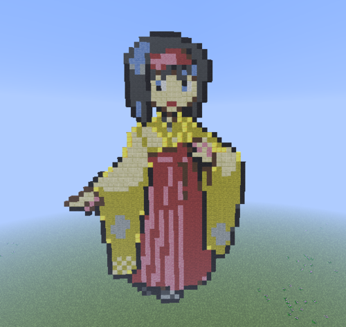 Minecraft(マインクラフト) Pixel Art! 壁紙 entitled Kanto Gym Leader: Erika