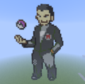 Kanto Gym Leader: Giovanni - minecraft-pixel-art fan art