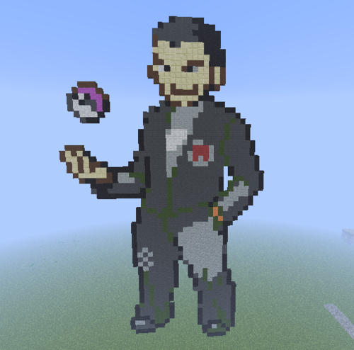 Minecraft Pixel Art! kertas dinding titled Kanto Gym Leader: Giovanni