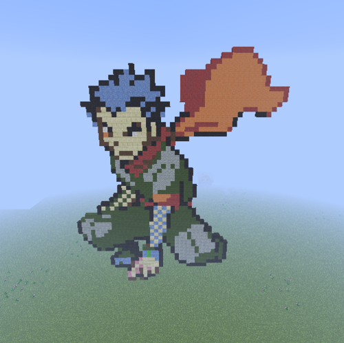 Minecraft(マインクラフト) Pixel Art! 壁紙 titled Kanto Gym Leader: Koga