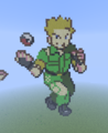 Kanto Gym Leader: Lt Surge - minecraft-pixel-art fan art