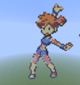 Kanto Gym Leader: Misty - minecraft-pixel-art fan art