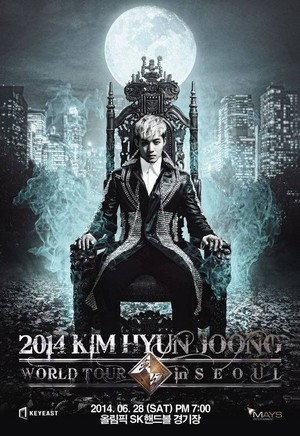Kim Hyun Joong poster for his upcoming world tour