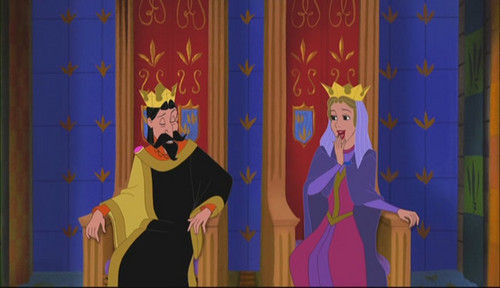 Sleeping Beauty kertas dinding titled King Stefan and Queen Leah in Enchated Tales