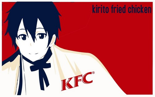 Sword Art Online wallpaper possibly containing Anime entitled Kirito Fried Chicken