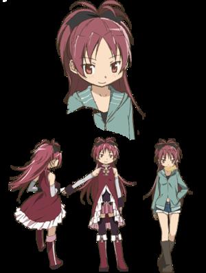 Kyoko Sakura (Human and Magical Girl form)