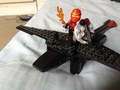 LEGO full armoured Hiccup with Inferno and DoB sheild and Toothless  - how-to-train-your-dragon photo