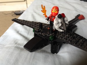 LEGO full armoured Hiccup with Inferno and DoB sheild and Toothless