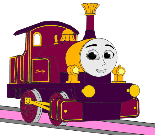 Tomy Thomas And Friends wallpaper possibly with a sign and anime entitled Lady in CGI