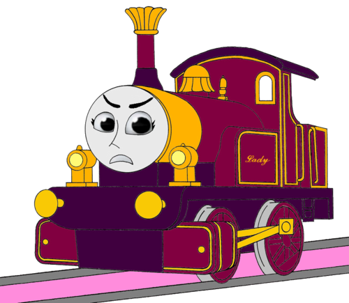 Tomy Thomas And Friends wallpaper possibly with anime entitled Lady's Angry Face (Mirrored)