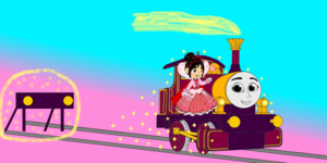 Lady & Princess Vanellope appeared out the Buffers