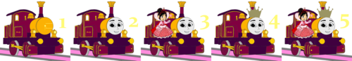 Tomy Thomas And Friends photo called Lady & Princess Vanellope Number Step