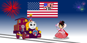 Lady & Vanellope celebrate the 4th of July