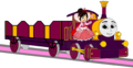 Lady with her Open-Topped Carriage & Vanellope beside her