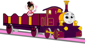 Lady with her Open-Topped Carriage & Vanellope travelling on it