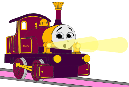 Thomas the Tank Engine wallpaper entitled Lady with her Surprised & Frightend Face & Shining Gold Lamps