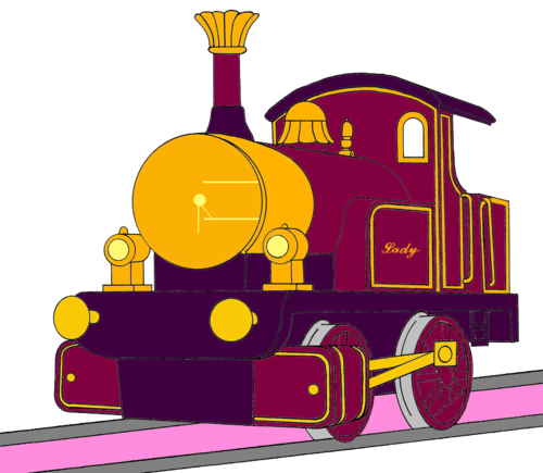 Tomy Thomas And Friends wallpaper entitled Lady without her Face (Mirrored)