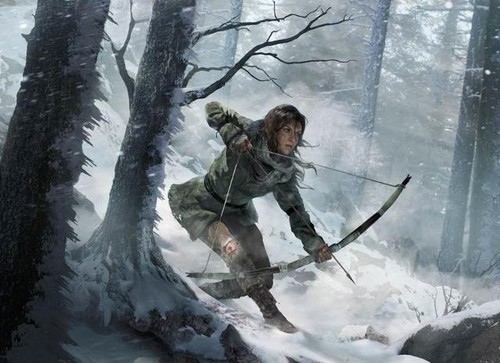 Tomb Raider wallpaper possibly containing an alpinist and a ski resort titled Lara Croft - Rise of the Tomb Raider (2015)