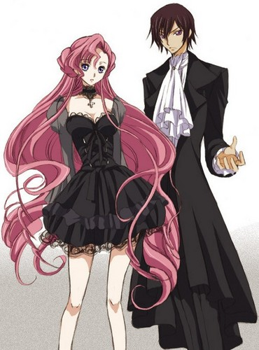 Code Geass wallpaper entitled Lelouch vi Britannia and Euphemia li Britannia