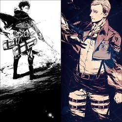 Shingeki no Kyojin (Attack on Titan) Hintergrund probably with Anime titled Levi and Erwin