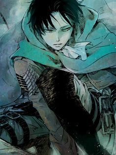 Shingeki no Kyojin (Attack on titan) achtergrond with anime titled Levi